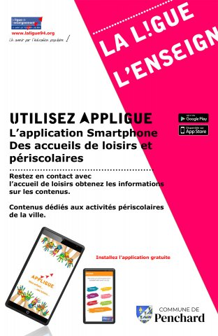 "Utilisez l'application mobile ""Appligue"""
